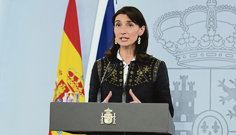 """Die neue Justizministerin, Pilar Llop, hat die Erklärung des Alarmzustands verteidigt: """"Der Lockdown hat 450.000 Leben gerettet"""". Foto: efe"""