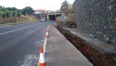 Der Tunnel, der die Landstraße TF-13 nach La Laguna und Tegueste unter der Avenida de los Menceyes hindurchführt, wird mit einem zusätzlichen Wasserabfluss versehen. Foto: Cabildo de Tenerife