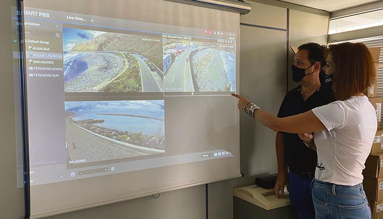 Vorstellung der Webcams der Strände von Santa Cruz Foto: ayuntamiento de santa Cruz de tenerife