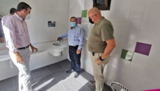Besichtigung der neuen Toilette am Socorro-Strand. Foto: Ayuntamiento Los Realejos