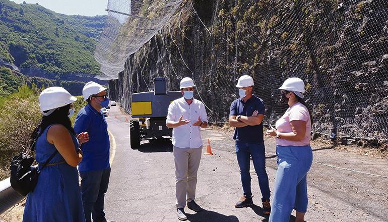 Durch die Sicherungsarbeiten droht keine Steinschlaggefahr mehr. Foto: cabildo la palma