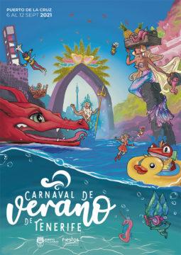 Poster des Sommerkarnevals in Puerto de la Cruz. Foto: Ayuntamiento Puerto de la cruz