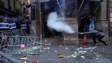 Tumult am katalanischen Feiertag Diada. FOTO: EFE