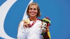 Bei den Spielen in Tokio stellte Michelle Alonso mit einer neuen Bestmarke von 1:12:02 einen neuen Weltrekord auf und sicherte sich die Goldmedaille. Fotos: EFE