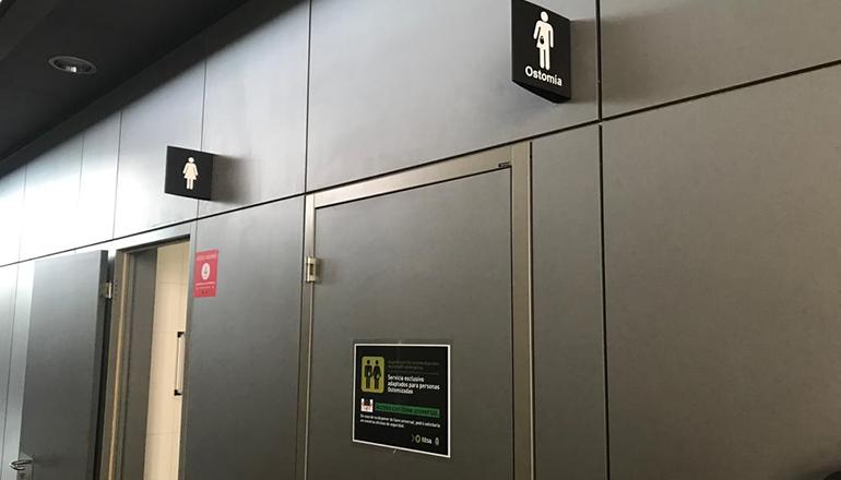 WC Toilette Stomaträger Busbahnhof Foto: CABTF