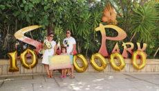 Die zehnmillionste Besucher seit Eröffnung des Siam Park. Foto: Siam Park
