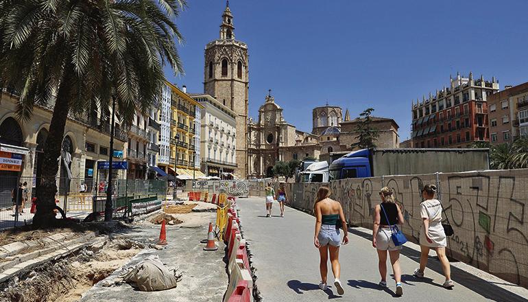 Valencia rangiert unter den Städten, die diesen Sommer mehr Urlauber aus dem Inland empfangen konnten. Foto: efe