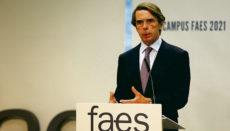 José María Aznar und seine Frau Ana Botella sind die einzigen Mitarbeiter der eigenen Firma. Foto: EFE