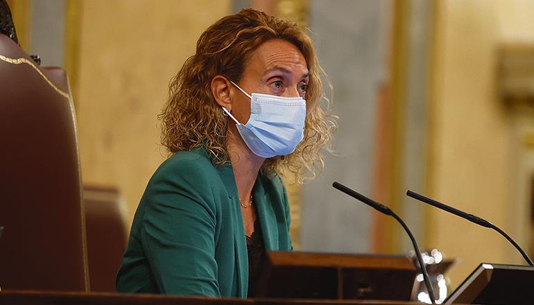 Meritxell Batet platzte angesichts des unverschämten Verhaltens eines Vox-Abgeordneten der Kragen. Foto: EFe