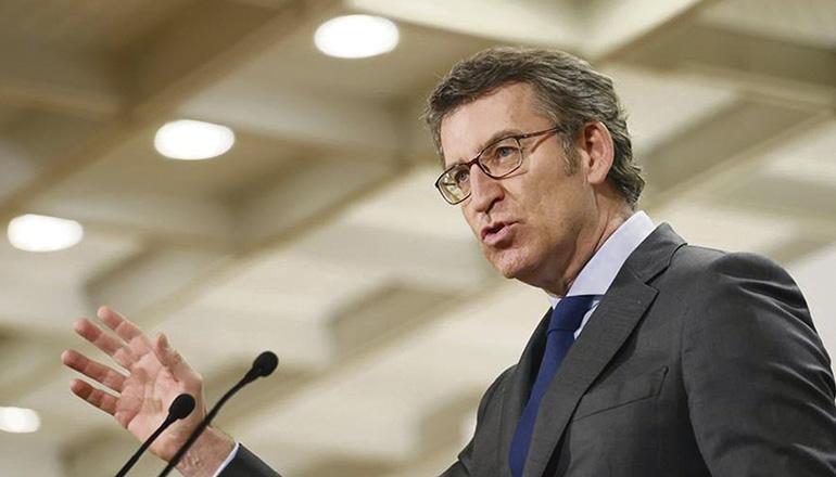 Der Präsident der Regierung von Galicien, Alberto Núñez Feijóo, führt das Thema des Finanzierungssystems der autonomen Regionen wieder ein. Foto: EFE