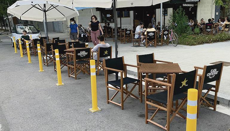 """Die """"Pop-up-Terrassen"""" waren in der Corona-Krise die Rettung für viele Lokale. Foto: pixabay"""
